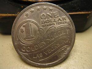 1987 $1 Dollar Golden Nugget Casino Las Vegas NV Slot Machine Token SSM