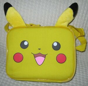 88c2693b0fe8 Details about POKEMON PIKACHU WITH EARS LUNCHBOX-PIKACHU LUNCH BAG LUNCH  BOX-BRAND NEW!