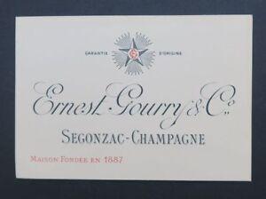 Carte De Visite Tarif Ernest GOURRY Segonzac Charente