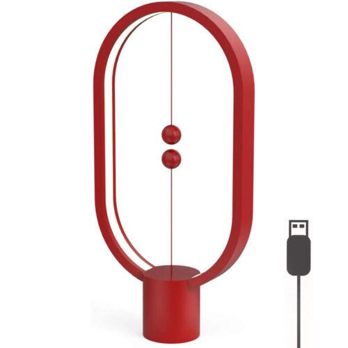 ⭐LED Heng Balance Lamp Magnetic USB Powered Desk Table Night Light Bedroom Decor