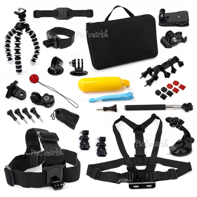 34in1 Pack Accessories Head Chest Monopod Bike Surf Mount for GoPro Hero 5 4 3+