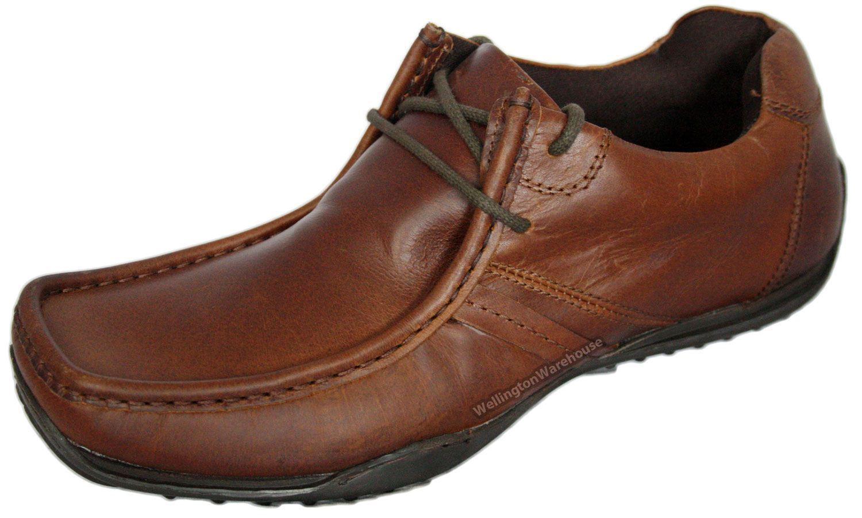 Red Tape Kinder Hellbraun geschnürt Freizeit Leder Herren gepolstert Schuhe