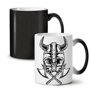 Warrior Dead Axe Skull NEW Colour Changing Tea Coffee Mug 11 oz | Wellcoda
