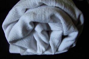 Antique-French-Slubby-Chanvre-100-Linen-Sheet-Fabric-Centre-Seam-c1800s