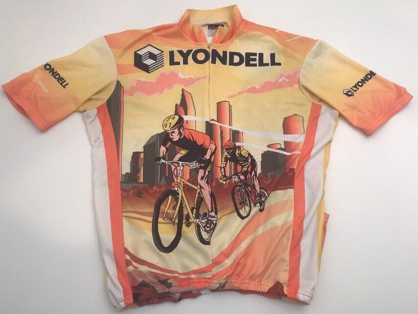 Lyondell Cycling Jersey By VOmax Houston Unisex Size 5 XL EUC Bicycle