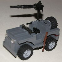 Lego Custom Made World War 2 Willy's Jeep Set For Army Soldiers Minifigs Gi Joe