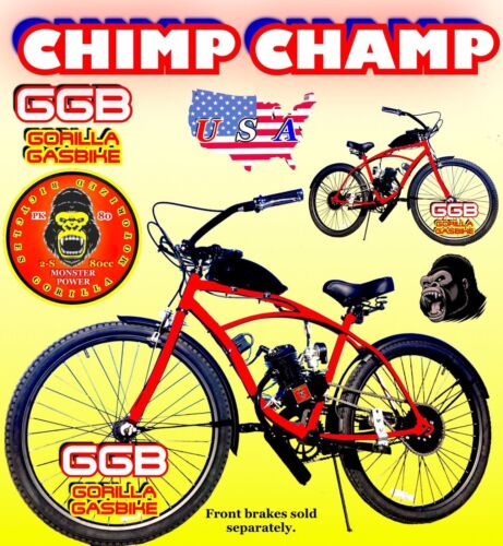 "CHIMP CHAMP 50 80 CC GAS MOTOR MOTORIZED ENGINE /& 26/"" BIKE BICYCLE SCOOTER KIT"