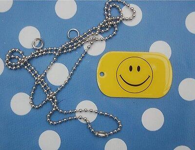 Smilie Smiley  Dog Tag Erkennungsmarke Fahne ca. 3 x 5 cm
