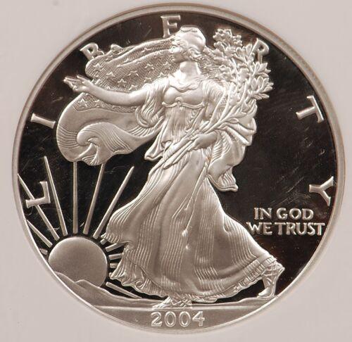 PR69 2004-W $1 Proof Silver American Eagle 1 Oz .999 Fine NGC PF69 Ultra Cameo