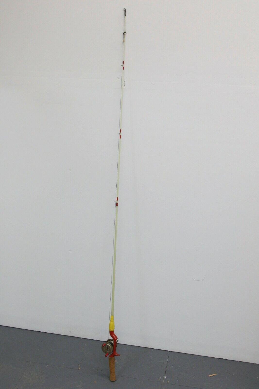 Vintage Hot Rod HRS Corcho manejado de fibra de vidrio caña de pesCoche con Lawrence  3