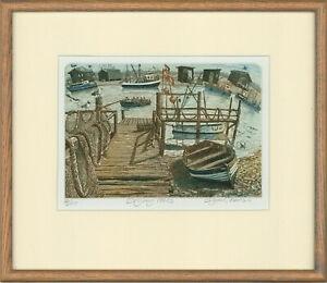 Glynn Thomas (b.1946) - 20th Century Etching, Drying Nets