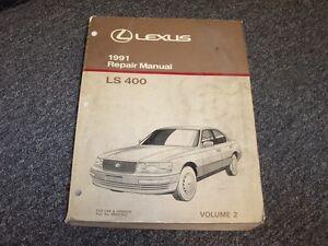 1991 lexus ls400 sedan workshop shop service repair manual book vol2 rh ebay com Lexus Manuals Shop 1991 lexus ls400 repair manual pdf