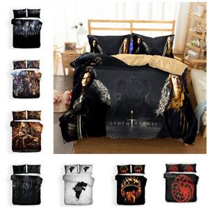 Game of Thrones Design Bedding Set 3PC Duvet Cover Bed Sheet Pillowcase