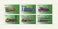 LOCOMOTIVE STEAM TRAIN RAILWAY TATARSTAN MNH STAMP SHEETLET