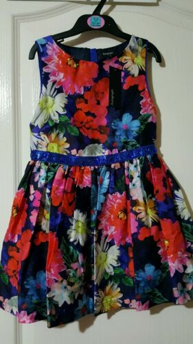 M/&S floral Printed girls dress Sizes RRP£32 5-6 7-8,13-14years