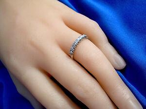 c0811e33a87d La foto se está cargando Deco-Diamante-Aniversario-Vintage-Antiguo-Platino- Anillo-De-