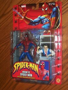 NEW CARDED MARVEL MAGNETIC SPIDER-MAN ACTION FIGURE ~ TOY BIZ 2002