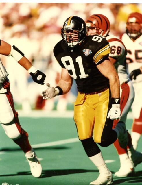 the latest adfde 8fd30 Pittsburgh Steelers Kevin Greene UNSIGNED 8 X 10 Photo