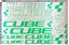 NEON CUBE AUFKLEBER FAHRRAD BIKE STICKER MTB BMX DECAL SATZ XL 22 STŰCKE GRÜN