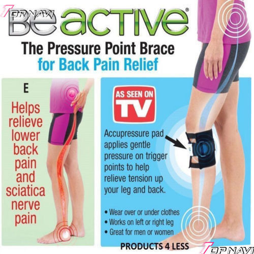 Black Be Active Brace Point Pad Leg for Back Pain ...