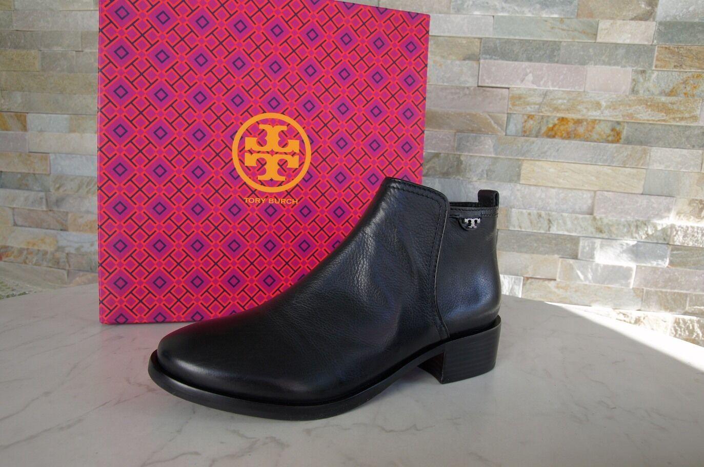 Tory Burch T 38,5 8,5 Bottines Chaussures 31148341 Noir Neuf Ex Prix Recommandé