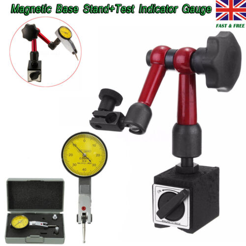 Dial Test Indicator Gauge Scale Precision&Flexible Magnetic Base Holder Stand