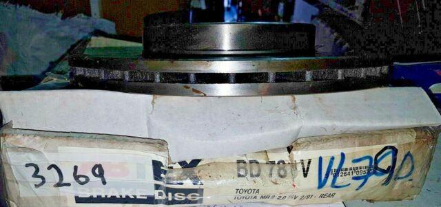 Rear Brake Discs for Toyota MR2 1.6 16v Year 1985-6//1986 240mm Disc