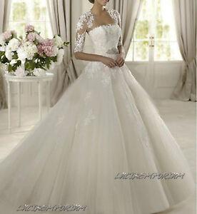 Vestiti Da Sposa Ebay.Abito Da Sposa Cerimonia Donna Matrimonio Festa Su Misura Ebay