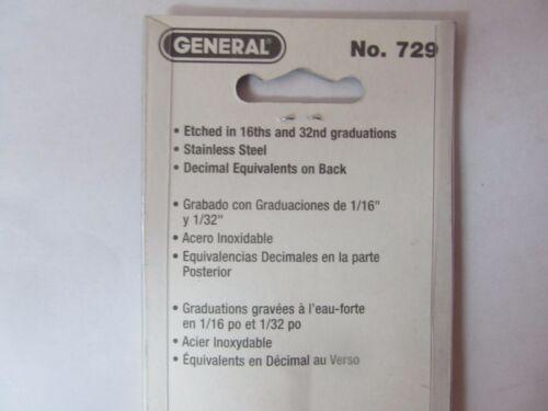 "General Tools Slide Caliper.#729 4/"" Stainless steel NEW"