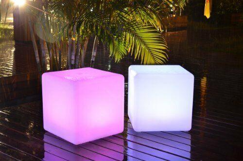 LED Würfel inkl USB Lichtobjekt Leuchtwürfel Licht Garten Dekoration Cube