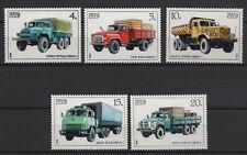 1690M - Mi 5630 - 5634 - ZSRR -SAMOCHODY CIĘŻAROWE