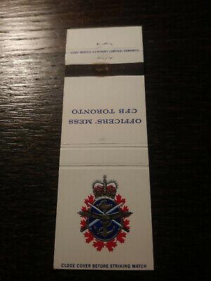 Vintage Matchbook Cover Match Art Officers Mess Cfb Toronto On A Ebay