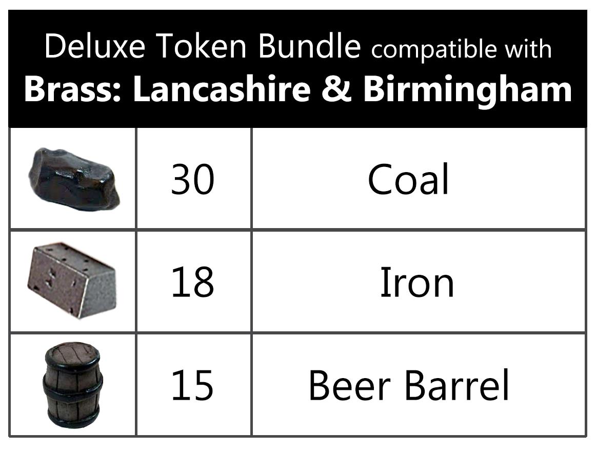 ●   Brass  Lancashire Birmingham   ● ✩ Deluxe Token realistic Resources ✩ neu&ovp