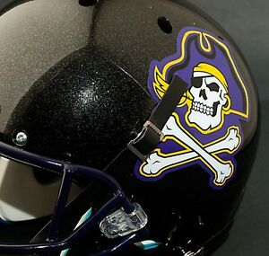 EAST CAROLINA PIRATES ECU Authentic FULL SIZE Football Helmet - Motorcycle helmet decals and stickers