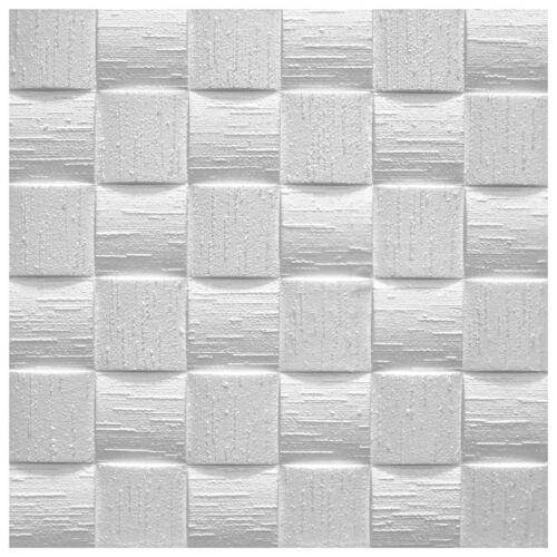 10 qm Deckenfliesen Dekorplatten Styroporplatten EPS formfest 50x50cm Len