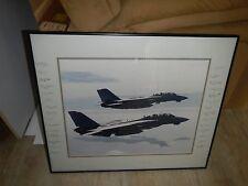 framed U.S NAVY VF-74 BE-DEVILERS F-14 TOMCAT photo autographed 31x devil 1 & 2