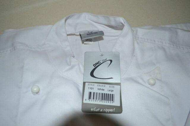 DNC Chef Jacket Short Sleeve Uniform Size Large