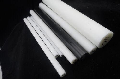 ACETAL POM BLACK ROD 6 MM DIA 300 MM LONG  1//4/' dia 1 foot long