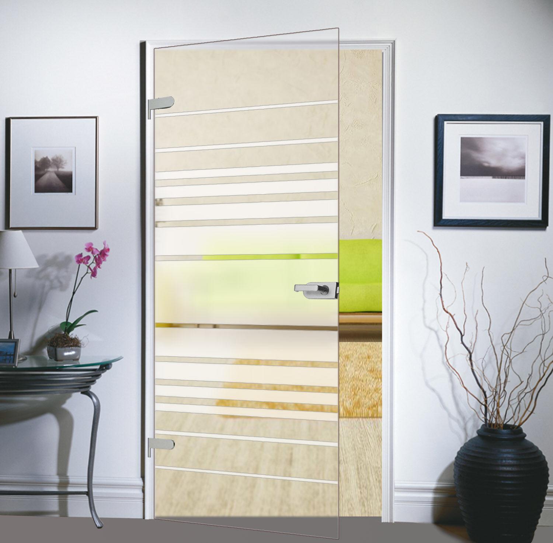 Glas Zimmertür Tür Glastür Drehtür 834x1972 M4834SSL mit Beschlag