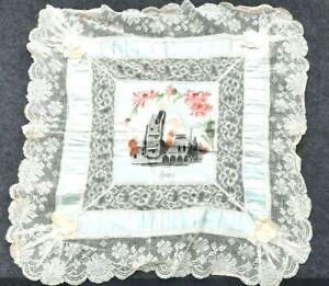 Mouchoir souvenir d'Arras en soie peint