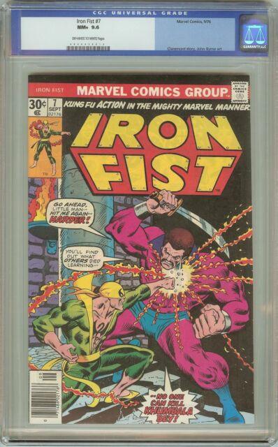 Iron Fist #7 NM+ CGC 9.6 OW/White