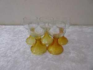 6 X Design Cristallo Vetro Vini Romani Schliffdekor Handgefertigt Vintage