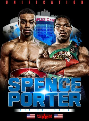 Errol Spence Jr vs Shawn Porter 4LUVofBOXING T-shirt New WH or BK Boxing tees