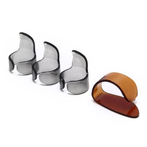 4pcs Finger Guitar Pick 1 Thumb 3 Finger picks Plectrum Guitar accessories WQ