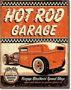 Image Is Loading Hot Rod Garage Rat Rods Retro Muscle Car
