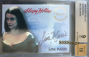 Sleepy Hollow Auto >> Details About 1999 Inkworks Sleepy Hollow Auto Lisa Marie A2 Mars Attacks Planet Of Apes Bgs