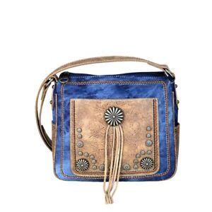 Handbag-SHOULDER-BAG-WESTERN-PURSE-MONTANA-WEST-Line-Dance-Denim