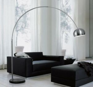 Piantana lampada da terra ad arco stelo 190x170 cm design for Lampada arco ikea