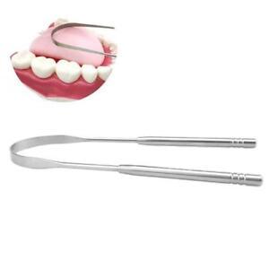 Edelstahl-Zungenreiniger-Schaber-Mundhygiene-Mundgeruch-Gesundheit-Werkzeug-Q1E9