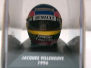 Wow Casque Extrêmement Rare Villeneuve 1996 Vice Vice Gagnant France 1: 8 Minichamps 4012138070820